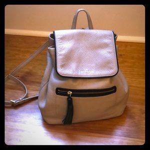 Kate Spade leather mini backpack light grey